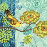 Jardin Bleu I Print by Jennifer Brinley