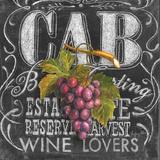 Chalkboard Wine III Art par Geoff Allen