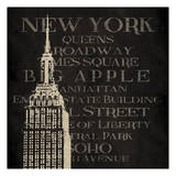New York Type Prints by Jace Grey