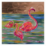 Duo Flamingos Prints by Anne Ormsby