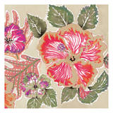 Hibiscus Holiday Gold Prints by Anne Ormsby