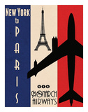 NY to Paris Posters by Jason Giacopelli