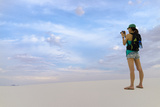 Tourist Taking Pictures - White Sands New Mexico Photographic Print by David Allen