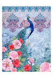 Peaceful Peacock 2 (pink) Print by Nicole Tamarin