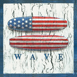 Patriotic Surfboard Prints by Geoff Allen