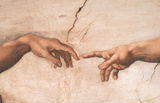 Creation-detail Prints by Michelangelo