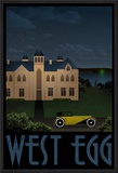 West Egg Retro Travel Poster Print