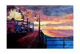 Santa Monica Pier At Dawn Giclee Print by Markus Bleichner