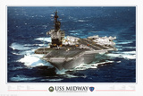 USS Midway - 1945 to 1997 Print