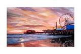 Santa Monica Pier at Sunset Reproduction procédé giclée par Markus Bleichner