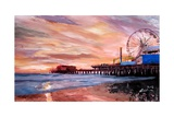 Santa Monica Pier at Sunset Giclee Print by Markus Bleichner