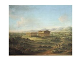 Two Great Temples of Paestum, Basilica on Left and Temple of Neptune or Poseidon on Right Giclee Print by John S. Smith