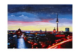 Gloomy Skyline of Berlin Germany Giclee Print by Martina Bleichner