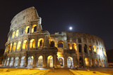 The Colosseum at Night Poster by  abadesign