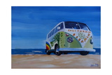 Surf Bus Series - California Dreaming VW Bus Giclee Print by Markus Bleichner