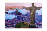 Rio de Janeiro with Christ the Redeemer Giclee Print by Martina Bleichner