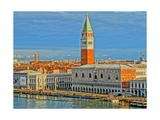 Venice Serenissima with St Mark Square and Alps Giclee Print by Markus Bleichner