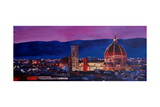 Florence Skyline with Santa Maria del Fiore Print by Markus Bleichner