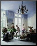 House & Garden - March 1988 Mounted Photo by Arthur Elgort