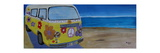 Surf Bus Series - The Lady Flower Power Peace Bus Giclee Print by Markus Bleichner