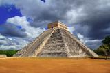 Chichen Itza Kukulkan Mayan Pyramid Dramatic Sky Mexico Yucatan Photographic Print by  holbox