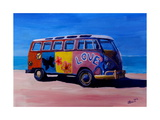 Surf Bus Series - The Summer of Love VW Bus Giclee Print by Markus Bleichner