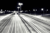 Highway Traffic at Night. Cars Lights in Motion on the Streets. Transport, Transportation Industry Posters by PHOTOCREO Michal Bednarek