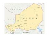 Niger Political Map Plakater af Peter Hermes Furian