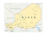 Niger Political Map Prints by Peter Hermes Furian