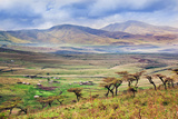 Savannah Landscape in Tanzania, Africa. Maasai Houses in the Valley Prints by PHOTOCREO Michal Bednarek