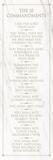 The 10 Commandments (white) Plakát