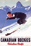 Ski in Canadian Rockies Posters