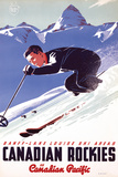 Ski in Canadian Rockies Posters