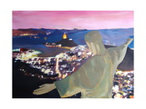 Rio De Janeiro With Christ The Redeemer II Giclee Print by Markus Bleichner