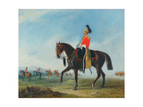 Portrait of an Officer of the 3rd Dragoon Guards with Other Members of the Regiment Beyond Giclee Print by John E. Ferneley