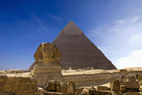 The Famous Ancient Egypt Cheops Pyramid and Sphinx in Giza Photographic Print by  Nosnibor137