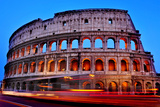 A View of the Flavian Amphitheatre or Coliseum at Sunset in Rome, Italy Photographic Print by  nito