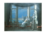 At the Window on a Moonlit Night, 1822 Giclee Print by G. Koch
