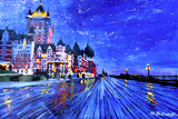 Fairmont Le Chateau Frontenac Quebec Canada By Nig Prints by Martina Bleichner