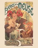 Meuse Beer Plakater af Alphonse Mucha
