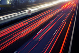 Light Trail View at A Busy Highway Prints by  XXLPhoto