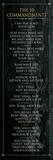 The 10 Commandments (black) Obrazy