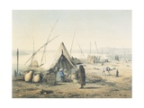 Coffee Break in Kenneh on the Nile, 1857 Giclee Print by J. Francis Sartorius