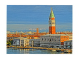Venice San Marco with Snowcovered Alps II Giclee Print by Markus Bleichner