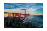 A Golden Gate Bridge Evening from Presidio Giclee Print by Markus Bleichner