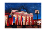 Berlin Brandenburg Gate with Paris Place Giclee Print by Martina Bleichner