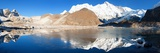 View of Cho Oyu Mirroring in Lake - Cho Oyu Base Camp - Everest Trek - Nepal Photographic Print by Daniel Prudek