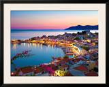 Greek Harbour at Dusk, Samos, Aegean Islands Poster by Stuart Black