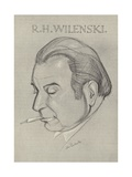 R H Wilenski, English Art Critic and Writer Giclee Print by John L. Pemberton