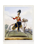 An Officer of the 17th Lancers on Horseback, 1833-1836 Giclee Print by L. And Eschauzier, St. Mansion